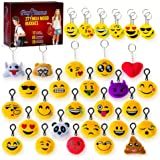 37 Emoji Party Supplies Set - Emoji Keychain Plush Set for Kids and Adults - Emoji Party Favors Express Positive Emotions and Moods