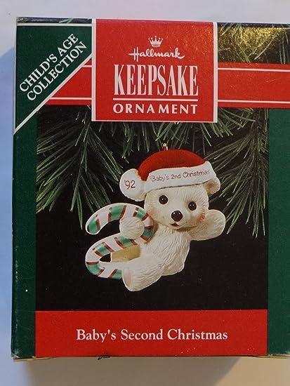 Amazon.com : Hallmark Keepsake Ornament Baby's Second Christmas ...