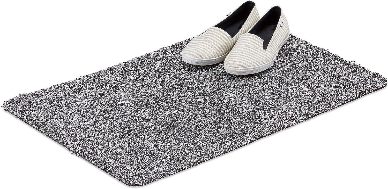Relaxdays Paillasson tapis d/'entr/ée en coton antid/érapant 45x70 cm