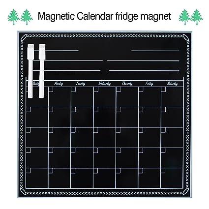 Calendario de borrado en seco magnético para frigorífico ...