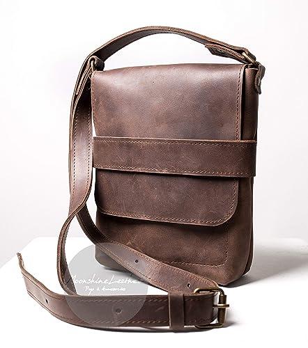 Synthetic leather bag Brown or Grey PU leather bag Brown messenger bag Brown crossbody bag Pu leather bag Men bags Brown shoulder bag