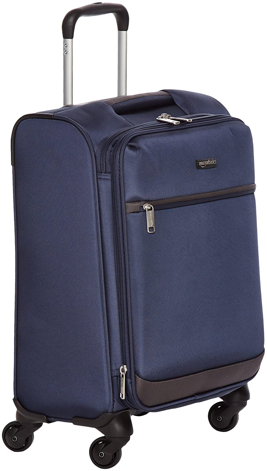 AmazonBasics Softside Spinner Luggage - 25-inch, Navy Blue N802