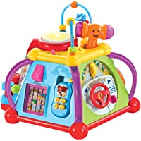 IQ Toys Activity Cube Center Educational Bead Maze, Shape Sorter with Lights and Sounds, 15 Skill Building Developmental…