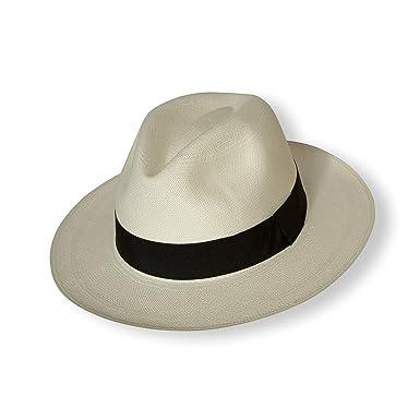 Borges   Scott Signature - Premium Fedora Panama Hat - Rollable for Travel  - Cream with 242c2c4d208d