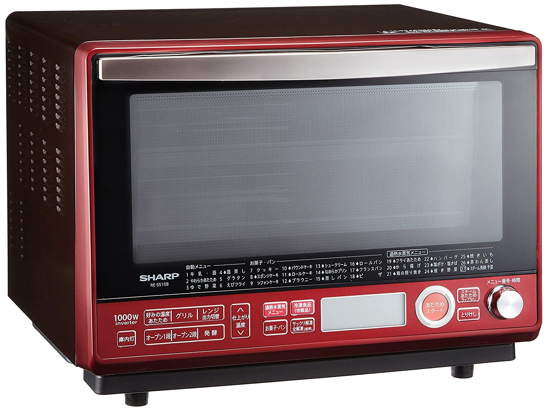 シャープ 過熱水蒸気オーブンレンジ 31L 2段調理 レッド RE-SS10B-R