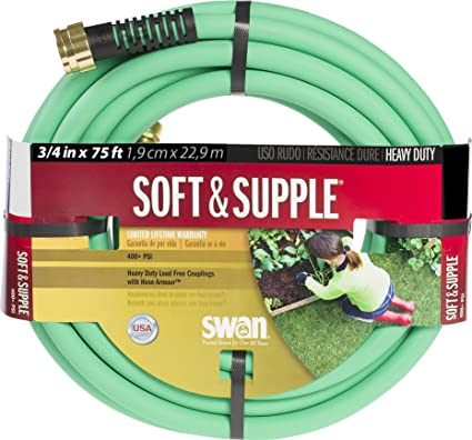 Charmant Swan Products SNSS34075 Soft/Supple Easy Coil Heavy Duty Water Hose 75 Ft, 3