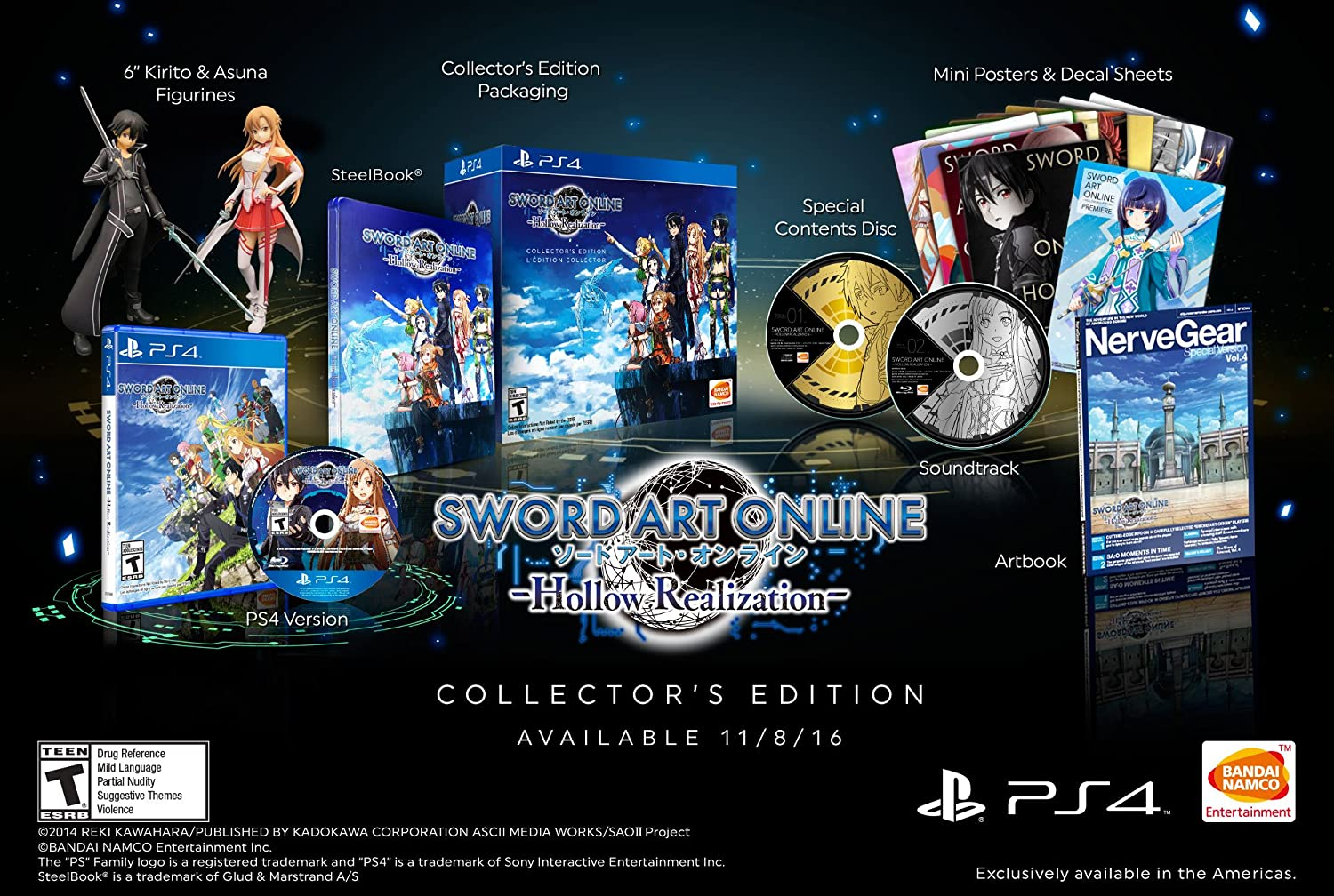 Amazon com: Sword Art Online: Hollow Realization Collector's Edition