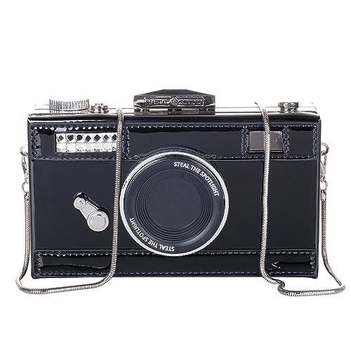 1295f55fa86f QZUnique Women's PU Camera Shaped Snapshot Casual Cross body Shoulder  Handbag Purse