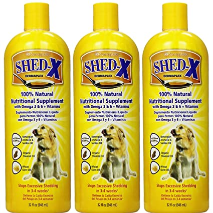 SynergyLabs Shed-X Dermaplex Liquid Supplement for Dogs (3 Bottle - 32 fl.