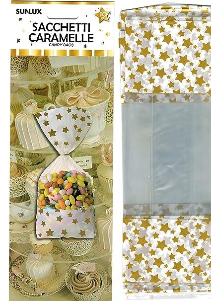 takestop® - Bolsas con diseño de Estrellas, para Caramelos ...
