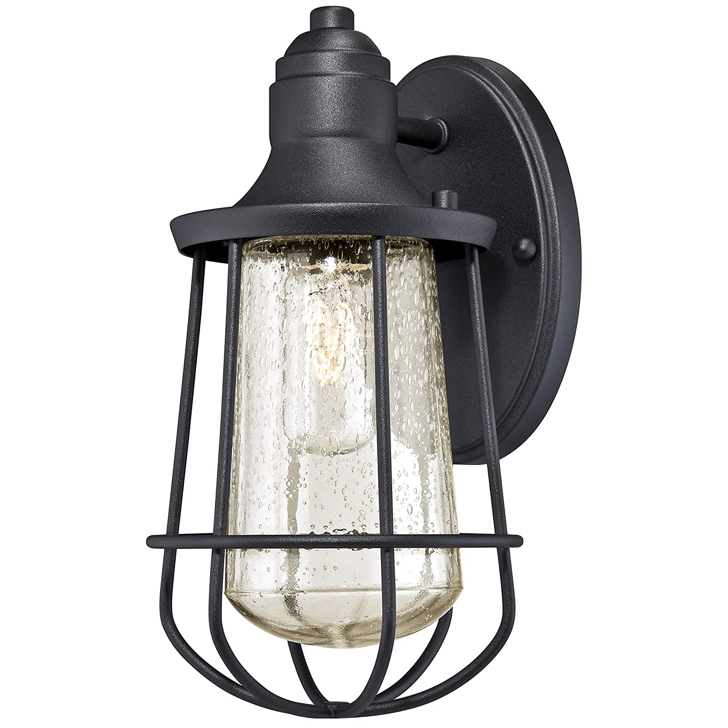 Westinghouse 6202900 elias 1 light industrial outdoor wall lantern westinghouse 6202900 elias 1 light industrial outdoor wall lantern textured black amazon aloadofball Image collections