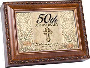 Cottage Garden 50th Anniversary Music Box Plays Song Ave Maria