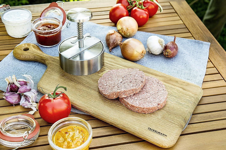 14 x 11 x 11 cm presse viande pour burger Acier inoxydable Argent/é presse /à hamburger FM Professional 22205 Presse burger