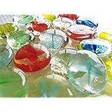 ガラスのおはじき 花ケリ 約2.5cm/25個入り 日本メーカー Glass Counter