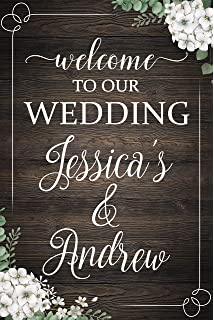 c29b36d5d Rustic Wedding Party Welcome Sign
