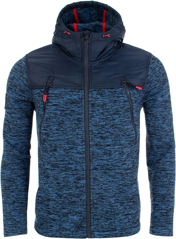 Superdry de los Hombres Mountain Zip Jacket, Azul