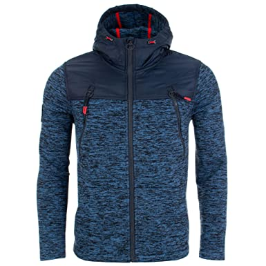 nouvelle collection 508f4 db08e Superdry Men's Mountain Zip Jacket, Blue