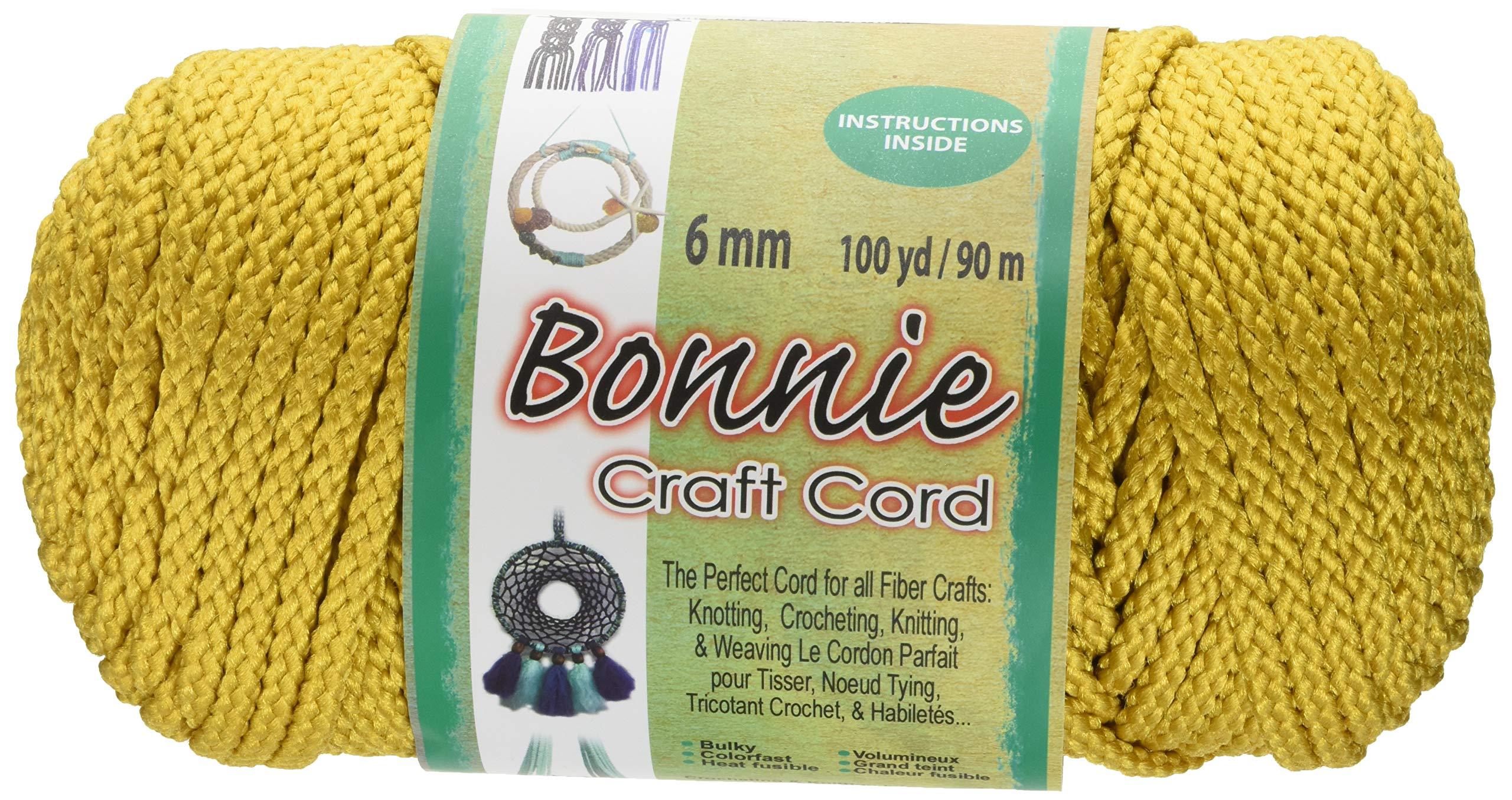 Pepperell 6mm Bonnie Macramé Craft Cord, 100-Yard, Gold (BB6-100-026)