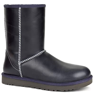 Womens Boots UGG Classic Short Leather Peacoat