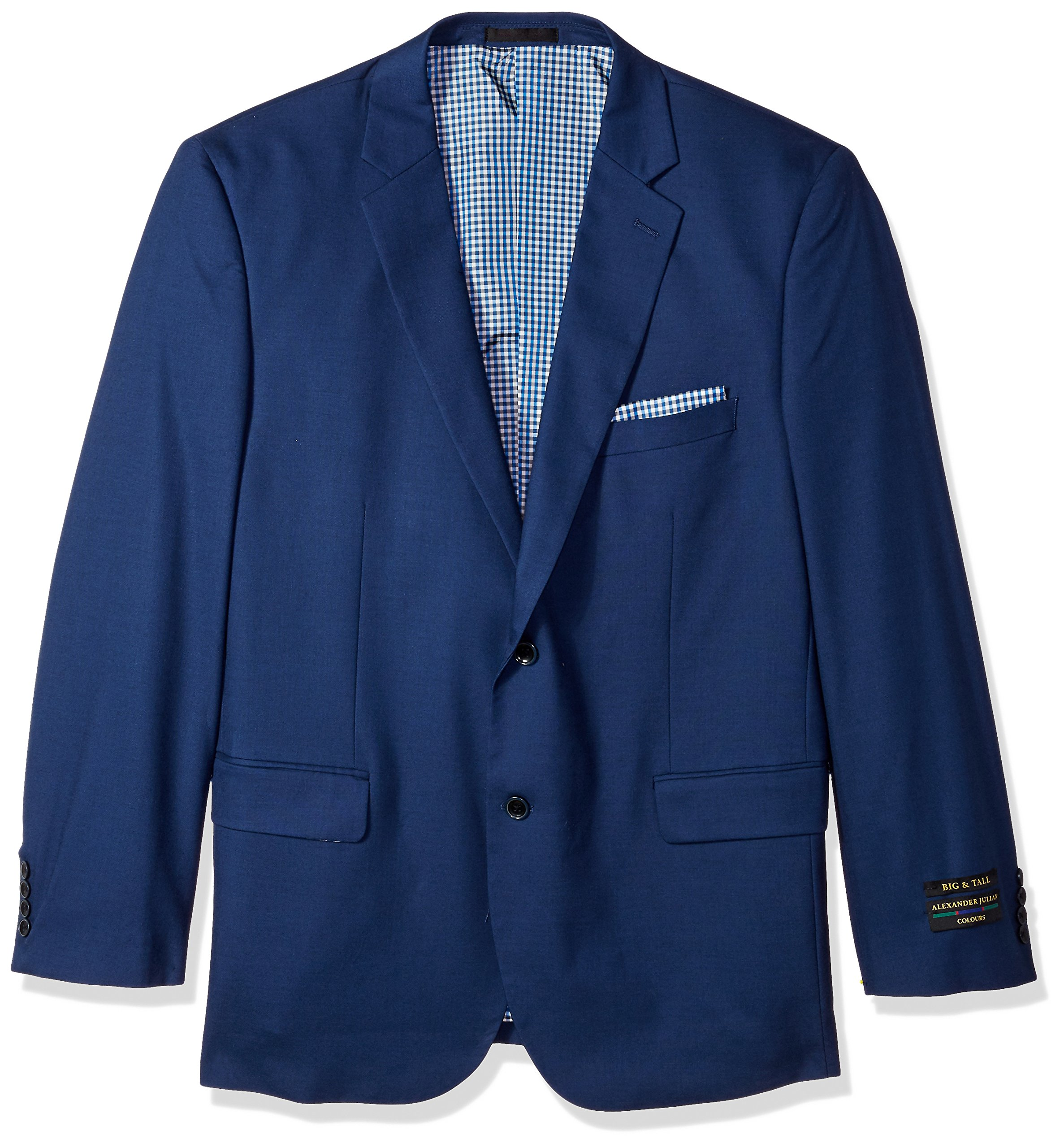Alexander Julian Colours Men's Big and Tall Single Breasted Modern Fit Suit Separate Jacket, French Blue, 52 Regular by Alexander Julian Colours (Image #1)