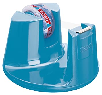 Tesa 53825-00000-01 - Dispensador de cinta adhesiva (incluye 1 rollo, 10 m x 15 mm), color azul: Amazon.es: Oficina y papelería