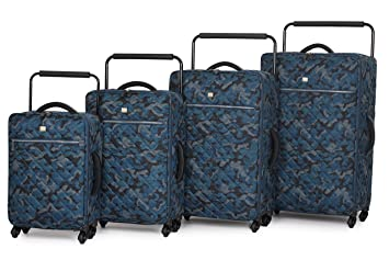 IT Luggage World's Lightest Set of 4 Quilted Blue Camouflage Four ... : it quilted luggage - Adamdwight.com
