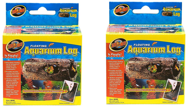 (2 Pack) Zoo Med Floating Aquarium Logs Mini