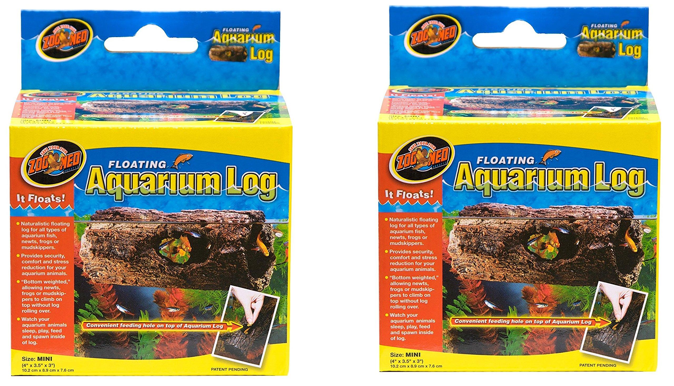 (2 Pack) Zoo Med Floating Aquarium Logs, Mini by Zoo Med
