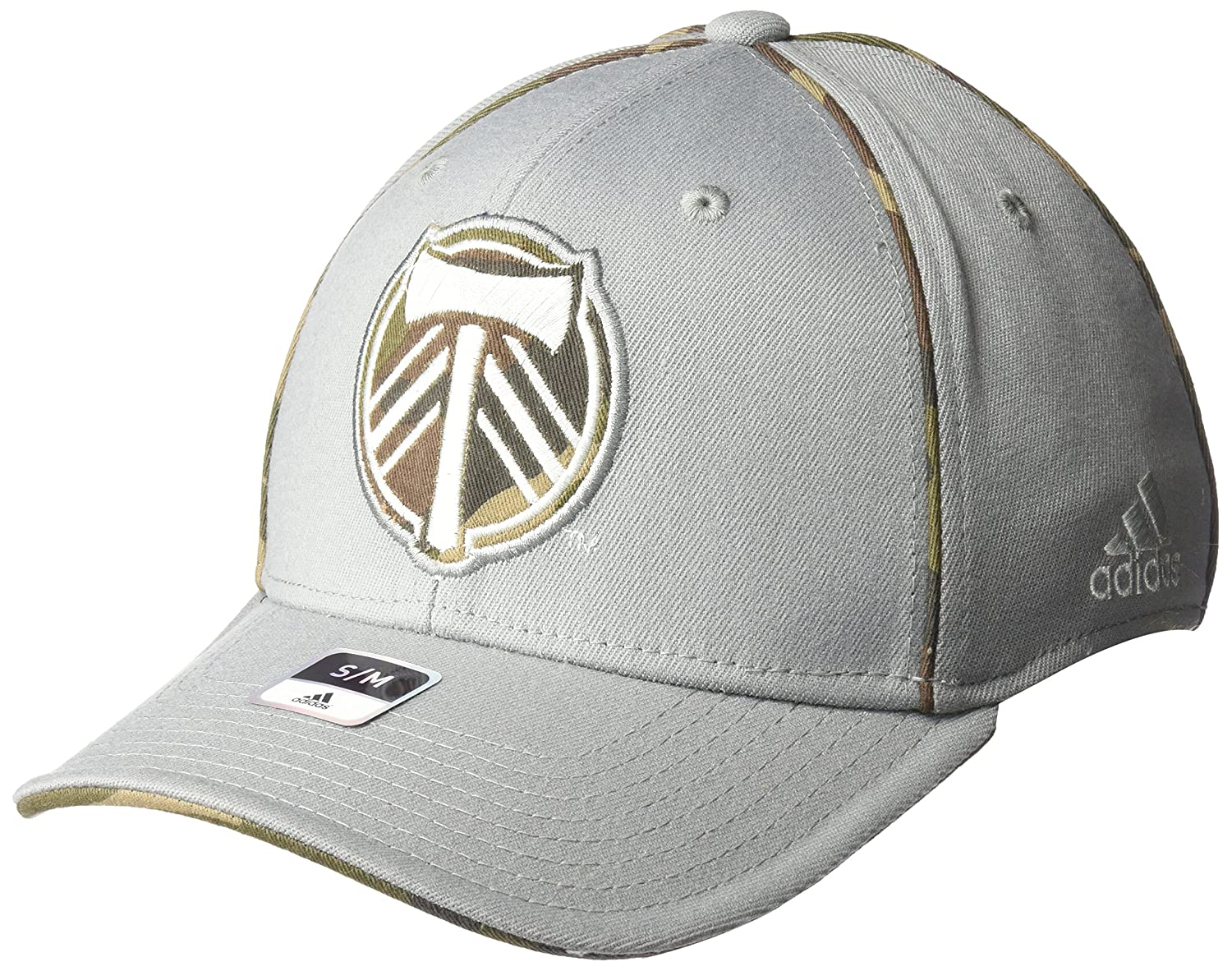 81b5652a 87% Acrylic/11% wool/2% polyurethane flex fitting cap. Tonal team logo  embroidered on a Camo fabric. Team name tail sweep on back with Camo pipping