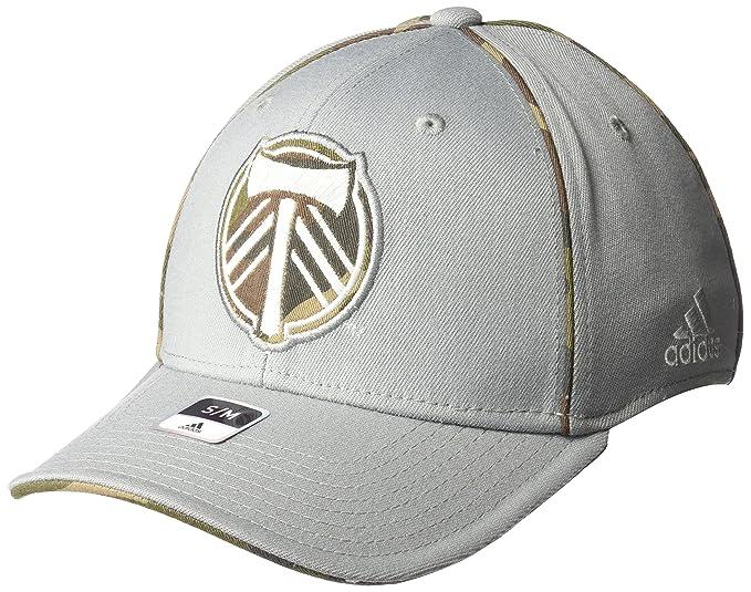 low cost 89684 1a60e MLS Colorado Rapids Men s SP17 Fan Wear Flex Cap, Gray, Small Medium