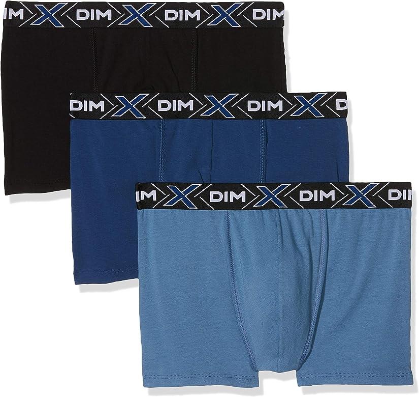 Dim Sous-vêtements Homme X-Temp Boxer X3, Multicolor (Bleu Jean/Bleu Eclipse/Noir 8uw), Small (Talla del Fabricante: 2) (Pack de 3) para Hombre: Amazon.es: Ropa y accesorios