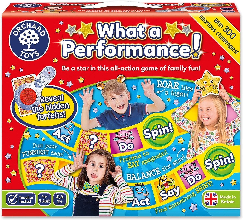 Orchard_Toys BG32 - Juego de Mesa What a Performance! (en inglés, Importado del Reino Unido)