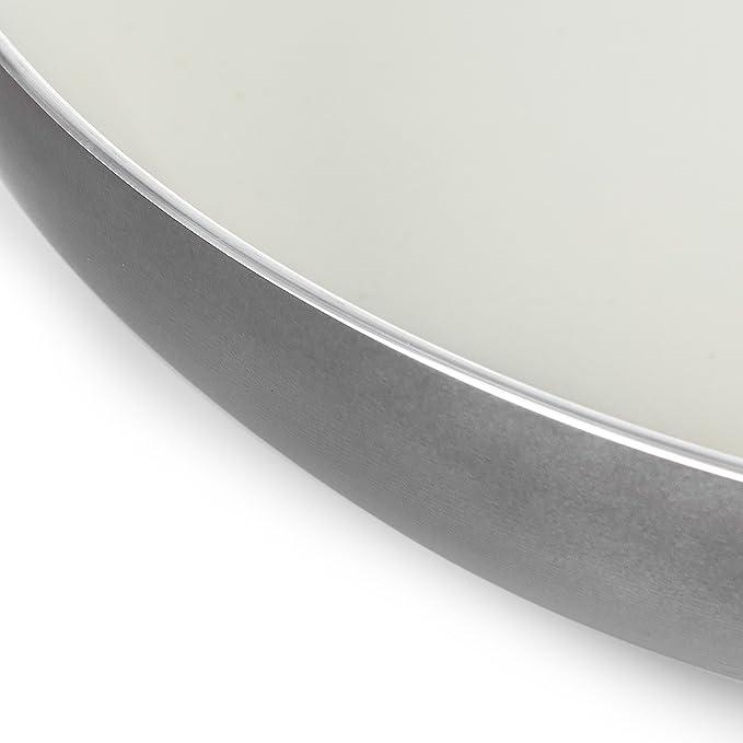 Morphy Richards - Juego de 2 sartenes de cerámica, 24 y 28 cm, Aluminio, Gris, 28 x 47 x 9,5 cm: Amazon.es: Hogar