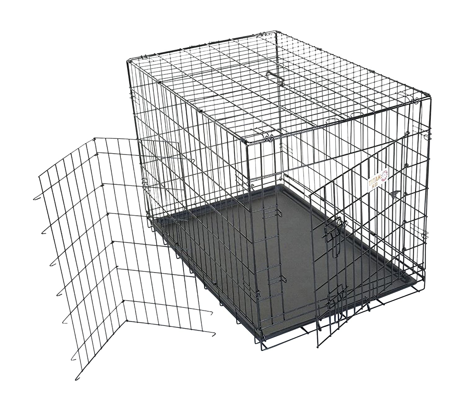 36 inch Single Door Folding Dog Crate by Majestic Pet Products Medium