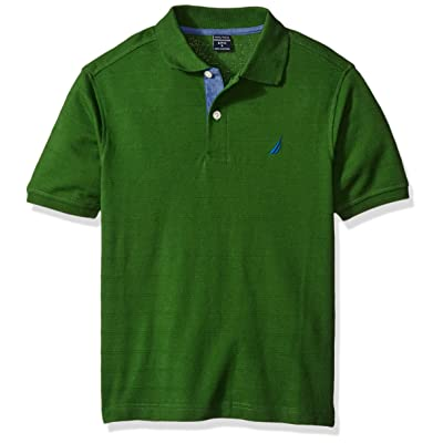 Nautica Little Boys' Toddler Short Sleeve Port Striped Polo,Green,3T