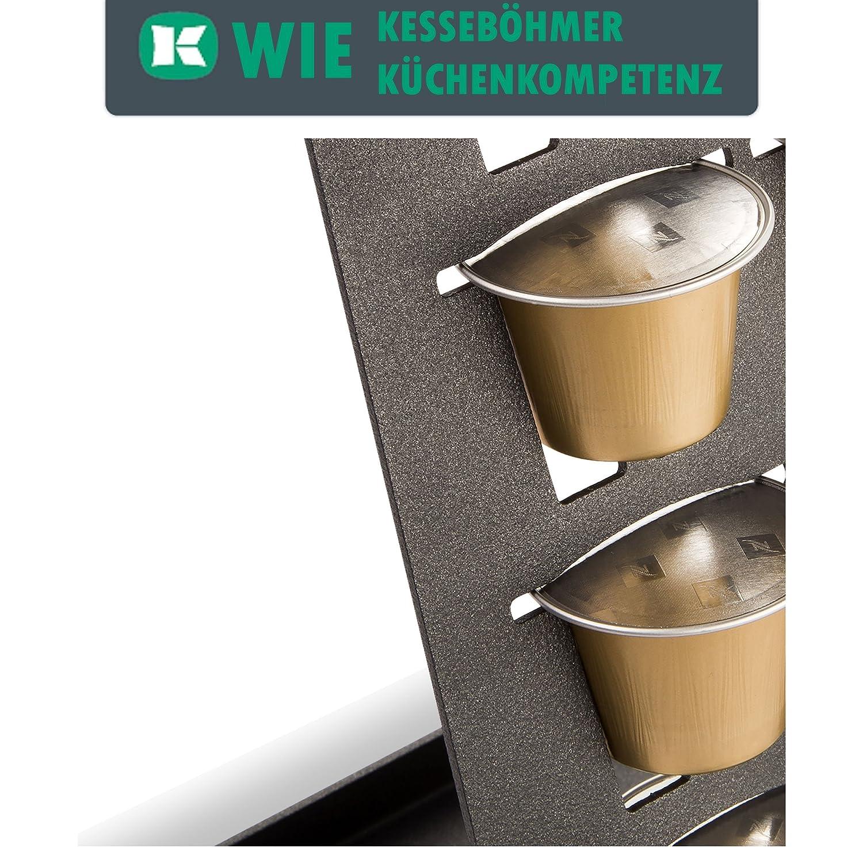 SO-TECH® Linero MosaiQ Dispensador de cápsulas Nespresso negro grafito para 20 cápsulas de café: Amazon.es: Hogar