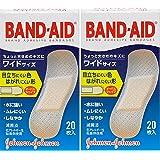 【まとめ買い】BAND-AID(バンドエイド) 救急絆創膏 肌色タイプ ワイドサイズ 20枚×2個