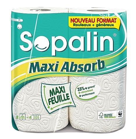 Sopalin 416549 Maxi Absorb 2=4 rollos de toallitas – – Juego ...