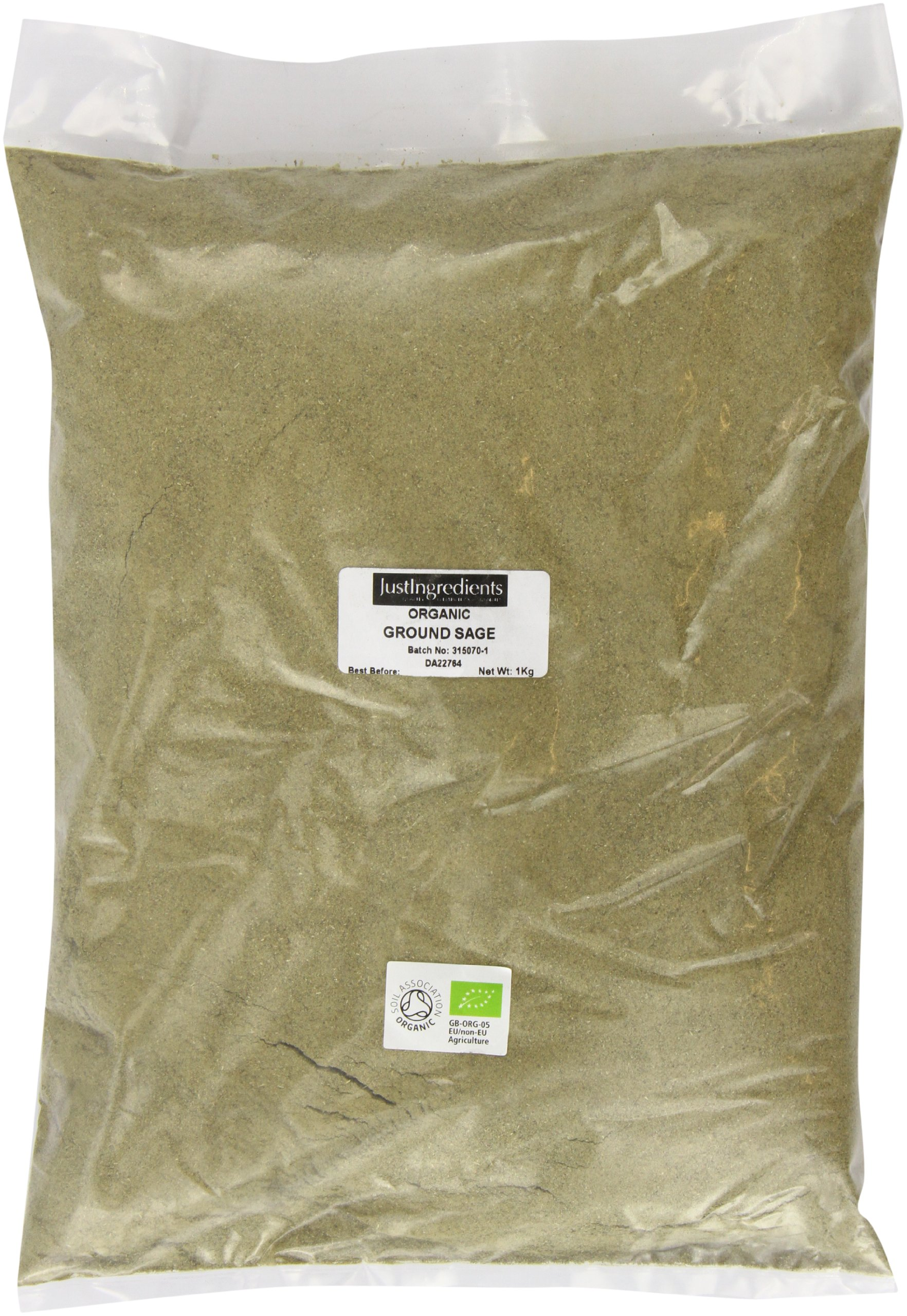 JustIngredients Organic Sage Ground Loose 1 Kg