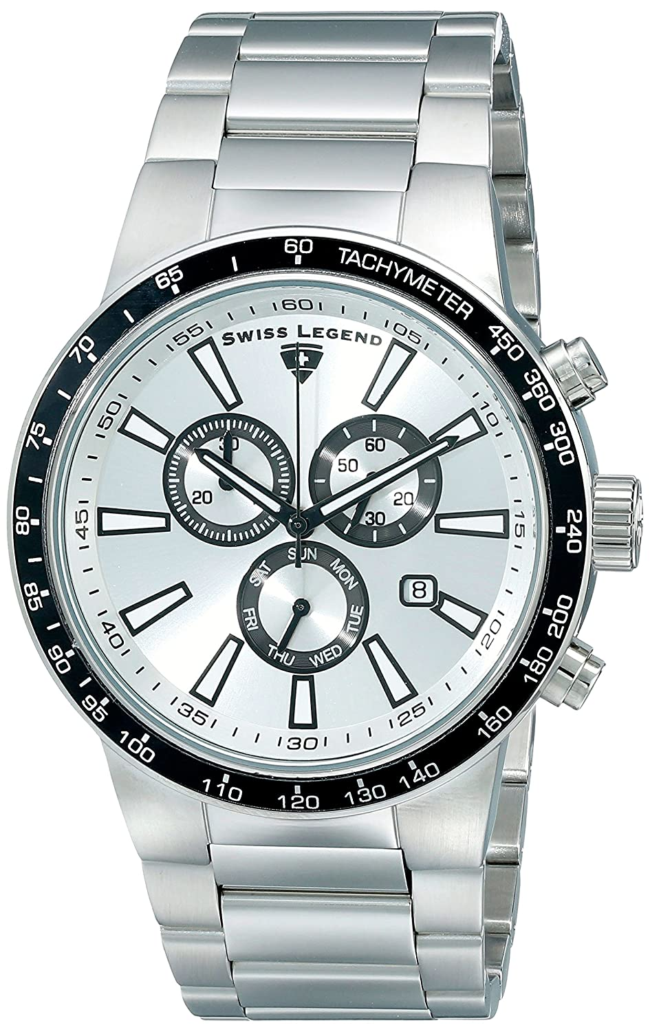 Swiss Legend Men s 10057-22S-BB Endurance Collection Chronograph Stainless Steel Watch