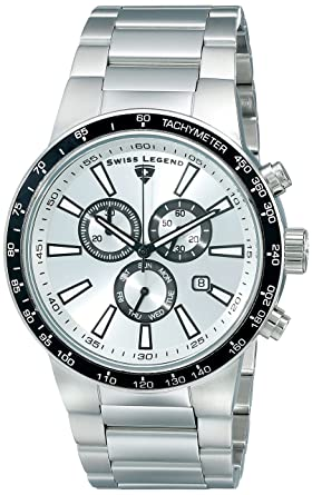Swiss Legend Men's 10057-22S-BB Endurance Collection Chronograph Stainless  Steel Watch