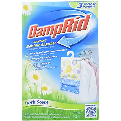 DAMPRID 773822075241 FG83K Hanging Moisture Absorber Fresh Scent (3 Boxes of 3 Bag, Blue : Garden & Outdoor