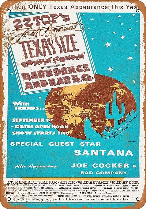 1974 ZZ Austin chaqueta de señora en samfme de Metal Sign ...