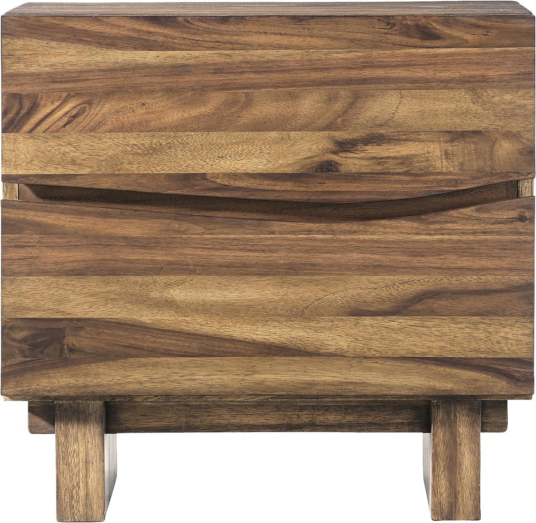Modus Furniture Ocean Nightstand, Natural Sengon
