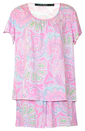 1a956c08205 Ralph Lauren Modern Paisley Shorts Pajamas PJ's at Amazon Women's Clothing  store: