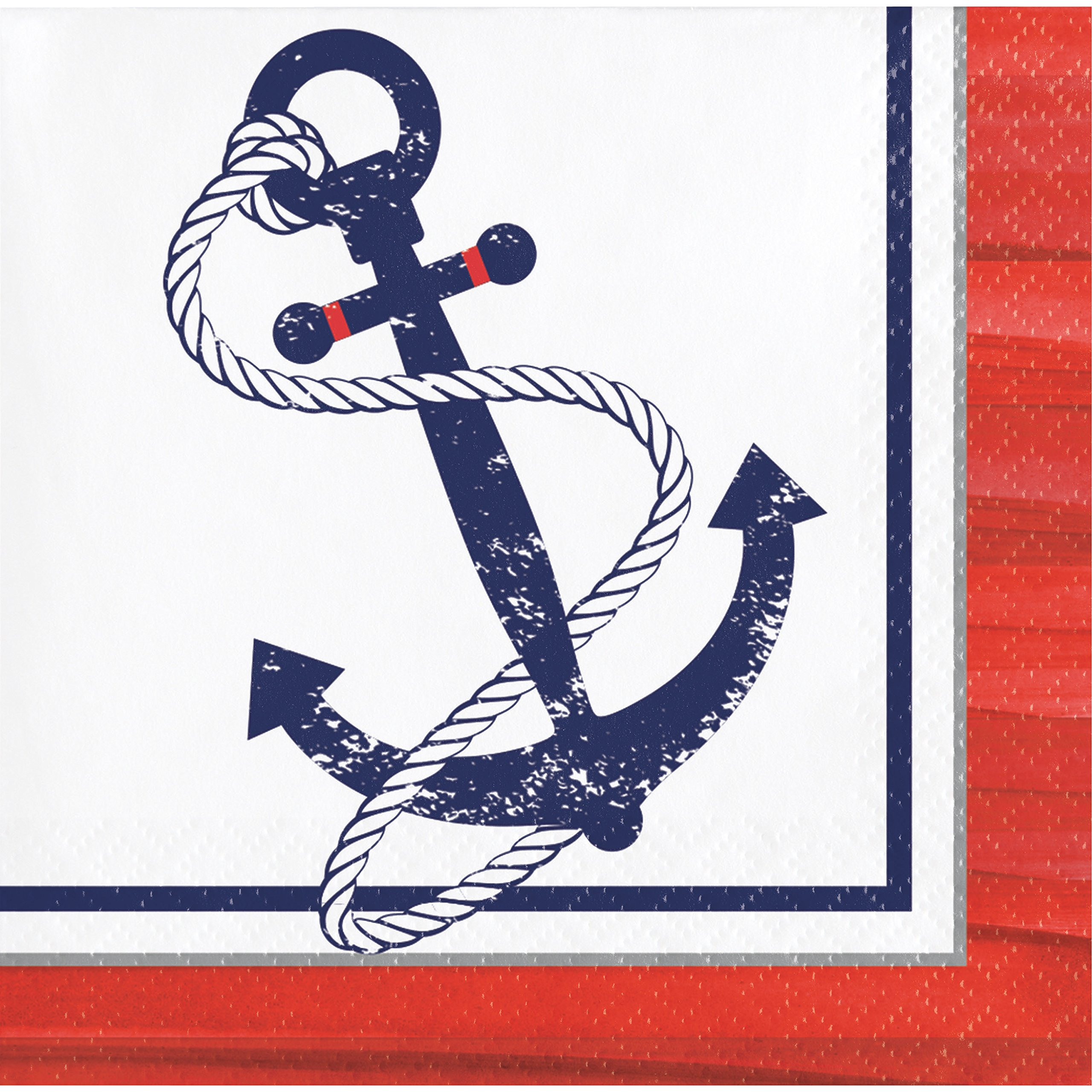 Anchors Away Beverage Napkins, 48 Count