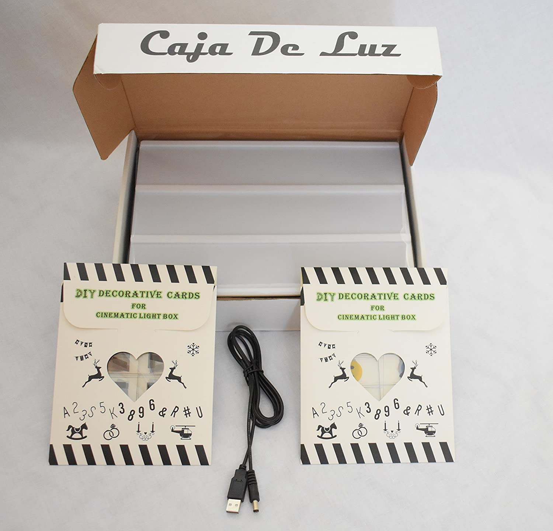 Caja de luz con letras (A4 LED Caja de Cine Lightbox Caja luminosa ...