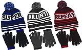 Polar Wear Boy's Knit Hat & Gloves Set in 3 Fun