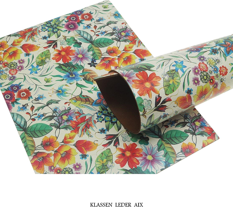 Klassen Leder AIX Rindsleder 3,0 mm Dick Flower Design 367 297 x 420 mm, 1 x A3
