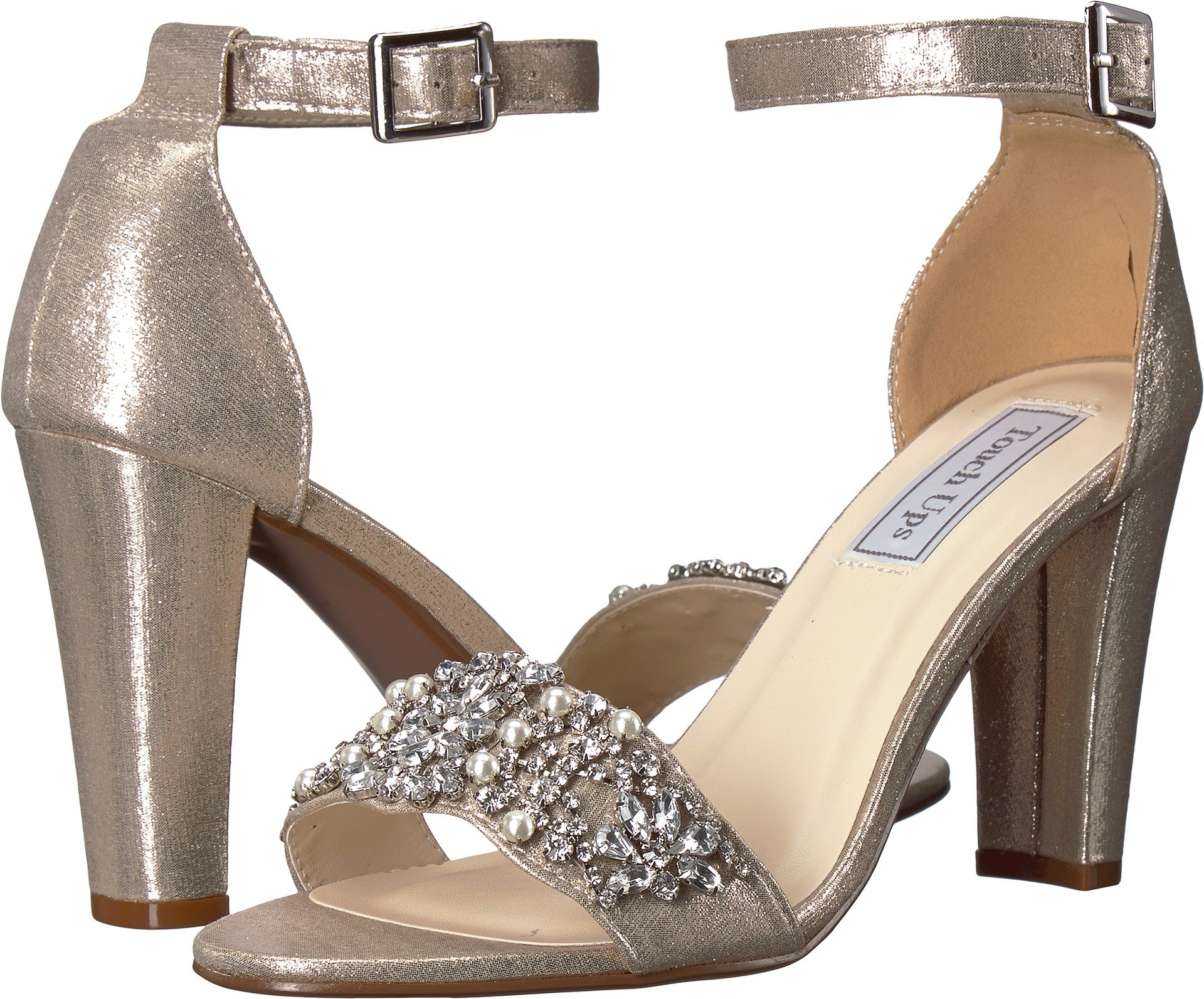 Touch Ups Women's Felicity Heeled Sandal, Champagne, 7.5 M US